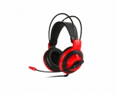 MSI DS501 Headset Hoofdband 3,5mm-connector Zwart, Rood